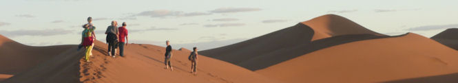 Le coucher de soleil sur la dune
